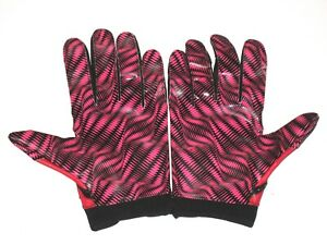 """TOMMY BOHANON NEW YORK JETS GAME WORN """"2 CATCHES 36 YARDS"""" UNDER ARMOUR GLOVES"""