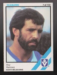 1984 Scanlens No 7 Roy Ramsey North Melbourne Kangaroos card