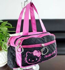 New Hellokitty Small Shoulder bag Purse KT00501Aa6 Black w/ Hot Pink
