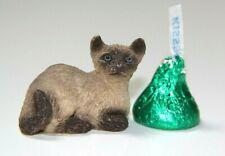 "Itty Bitty Critters, Siamese Cat, Stone, United Design Corp, 1"", Dollhouse"