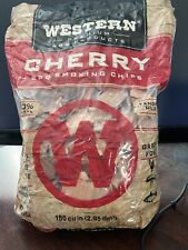 New! Western Cherry Wood Bbq Smoking Chips 180 Cubic In. Bag