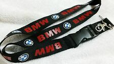 BMW Logo Beemer Keyrings ID Card Lanyard Neck Strap Gift Key chain holder Strap