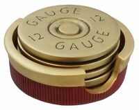 12 Gauge Shotgun Shell Coaster Set/4 Bullet Coasters Hunting Cabin Man Cave