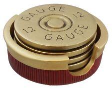 12 Gauge Shotgun Shell Coaster Set/4 Bullet Coasters Hunting Cabin Man Cave