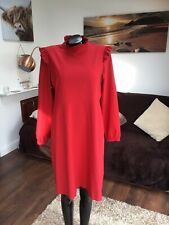 Stunning M&S Red High Neck Dress Size 16
