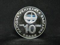 BULGARIA 10 LEVA 1985 SILVER PROOF -  INTERCOSMOS   #1945