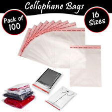 100 x Clear Cello Bags Cellophane Display Bag, Small Gifts, Wax Melts, Jewellery