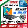 "PC NOTEBOOK PORTATILE LENOVO THINKPAD T60 14"" INTEL CORE 2 DUO RAM 3GB HDD 160"