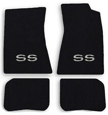 NEW! 1968-1972 Chevelle Floor Mats Black Carpet Embroidered SS logo in Silver 4