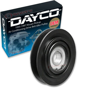 Dayco AC Drive Belt Idler Pulley for 1995-1997 Nissan Pickup 2.4L L4 Engine ou