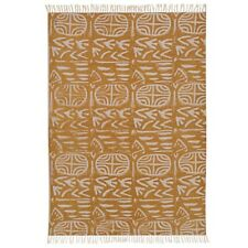 Indian Floor Mat Hand Woven Cotton Boho Decorative Throw Tribal Area Rug