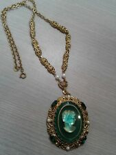 """WESTERN GERMANY vintage necklace. Cameo pendant 2"""", great condition,  20"""" long"""