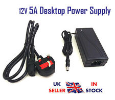 12V 5A AC DC Power Supply PSU Adapter Charger UK Plug 60W Transformer 5 amp