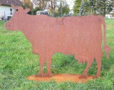 KUH 75x52cm Stier Edelrost Rost Metall Figur Rostfiguren Rostfigur Tier Rind