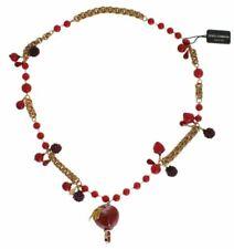 Dolce&Gabbana SMY108 Apple Fruit Crystal Charms Necklace