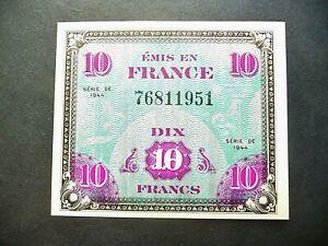 billet de 10 FRANCS DRAPEAU série de 1944  SPLENDIDE/NEUF