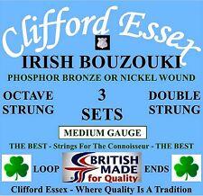 IRISH BOUZOUKI STRINGS - MEDIUM GAUGE - 3 x SETS - 10% DISCOUNT. MADE IN THE UK.