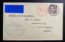 1932 Dublin Ireland Airmail Special Flight Cover To Berlin Germany