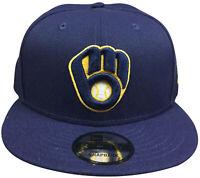 Mens New Era 9Fifty OTC MLB Milwaukee Brewers Basic Snapback