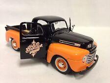 """Harley Davidson1948 Ford F-1 Pickup Collect 8"""" Diecast 1:24 Maisto Toy Orange/Bk"""