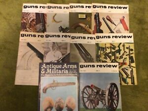 Vintage Guns Review Magazine Bundle collectable shooting magazines - 1971 1972