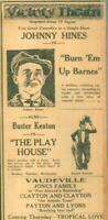 Advertising Newspaper Buster Keaton Johnny Hines Vaudeville Evansville 1921