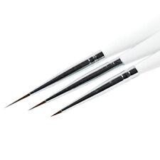 3pcs Ultra-thin Line Nail Art Liner Brush Drawing Painting Pen Manicure DIY Tool