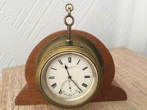 Ships Mantle Clock 1761 John Lilley & Son Ltd, 10 London Street, FULLY WORKING