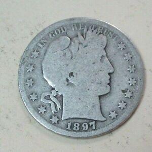 1897 S Barber Silver Half Dollar