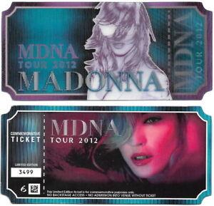 MADONNA 2012 THE MDNA TOUR COMMEMORATIVE TICKET