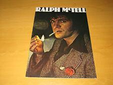 Ralph McTell - 1970's Tour Programme          (Promo)