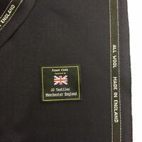 Dark Navy All Wool Cavalry Twill Jacket, Coat Fabric