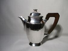 ANCIENNE CAFETIERE EN METAL ARGENTE ART DECO POINCONS ALTE KAFFEE OLD COFFEE