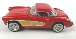 Vintage Franklin Mint 1957 Chevrolet Corvette Die Cast Collector Man Cave Decor