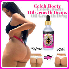 """EXTRA STRENGTH """"Celeb-Booty"""" Butt & breast Plumping Enlargement Growth OIL 4oz"""