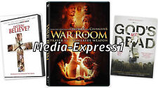 DVD - 3 Pack - War Room - Gods Not Dead - Do You Believe NEW FAST SHIPPING !