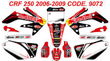 9072 HONDA CRF 250 2008 2009 Autocollants Déco Graphics Stickers Decals Kit