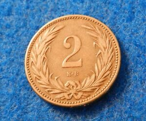 1895 Hungary 2 Filler - Great Old Coin - See PICS