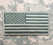 USA AMERICAN FLAG ARMY MORALE BADGE OD GREEN VELCRO® BRAND FASTENER PATCH
