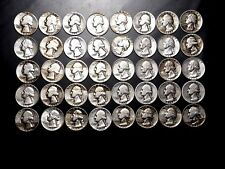 Washington Silver Quarter Roll - 40 1964 and Earlier Washington Silver Quarters