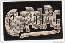 50 CHERBOURG lettres alphabet monuments - voyagé 1905