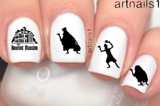 Disney Nails Haunted Mansion Ghost Halloween Art Water Decal Stickers Polish