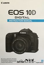 Canon EOS 10D Manual - Printed & Professionally Bound Size A5 - NEW 292 Pages