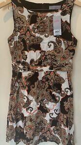 Dorothy perkins Women Multicolour Parsley Sleeveless A Line midi dress size 10