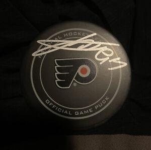 Jakub Voracek Signed Official Flyers Game Puck
