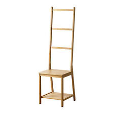 SPACE SAVING IKEA GRUND Towel rack chair, bamboo