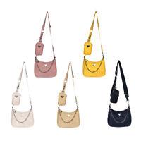 2pcs Casual Messenger Handbag Women Oxford Shoulder Crossbody Card Bag Set #JT1