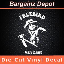 .. Vinyl Decal .. FREEBIRD VAN ZANT .. Lynyrd Skynyrd Laptop Car Decal