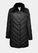 Missoni PIUMINO DONNA 42 (44 M) Nero WOMEN Fur Collar Black DOWN JACKET DOUDOUNE