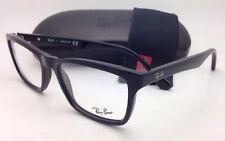 New RAY-BAN Eyeglasses RB 5279 2000 55-18 145 Black Square Frame w/Clear Lenses